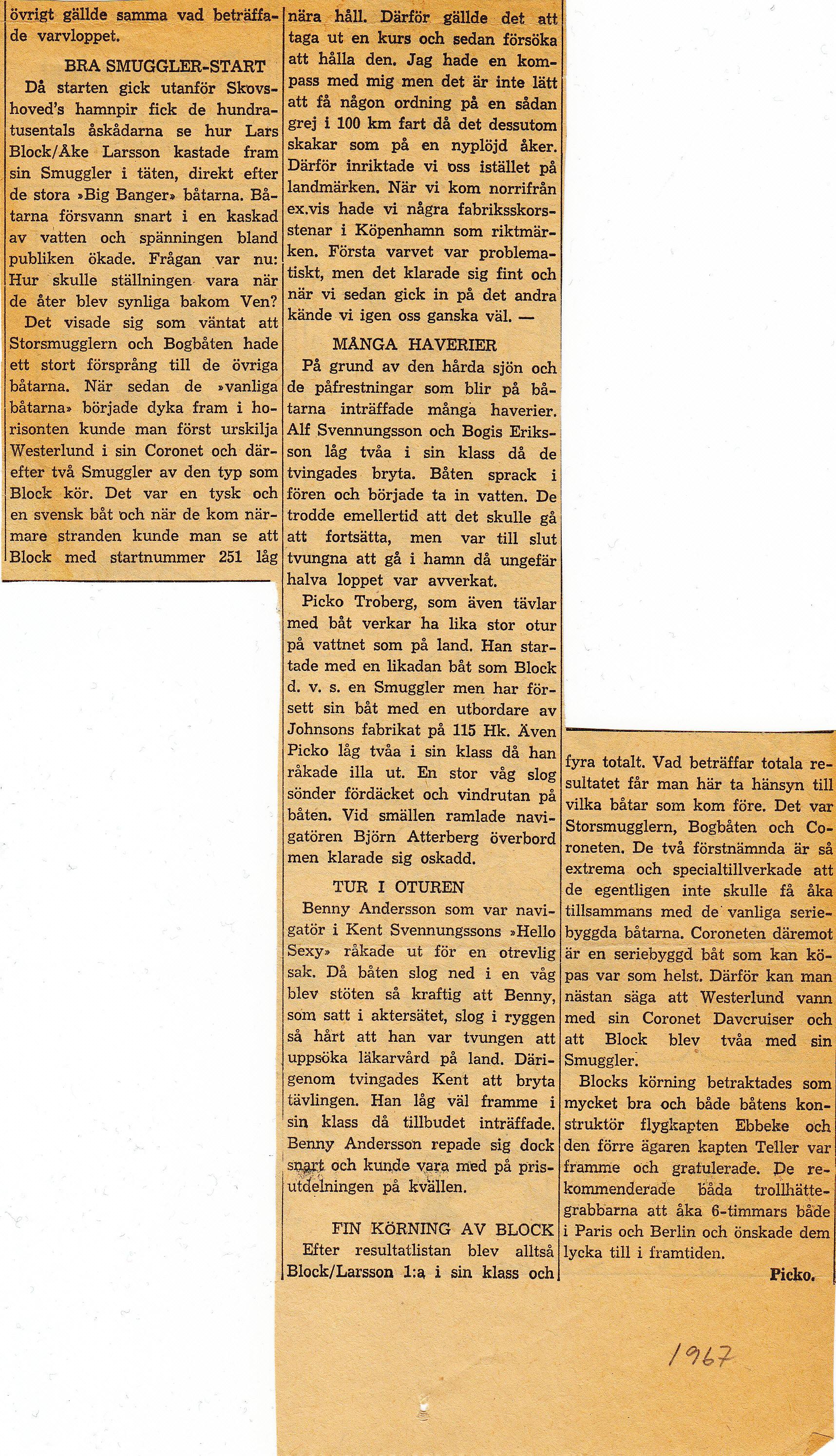 oresundsloppet 1967-1